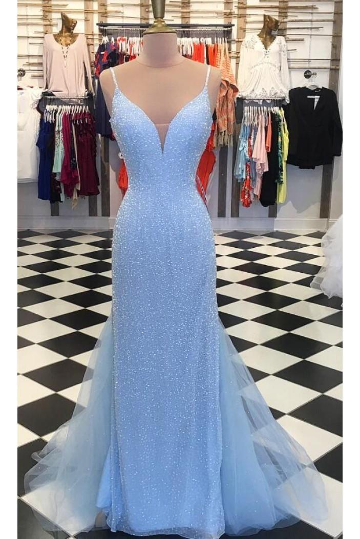 Elegant Sequins Long Prom Dresses Formal Evening Dresses 601356