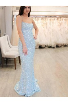 Sexy Sequins Long Prom Dresses Formal Evening Dresses 601357
