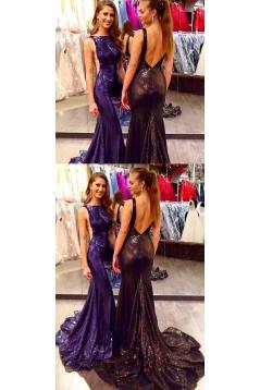 Mermaid Sequins Long Prom Dresses Formal Evening Dresses 601358