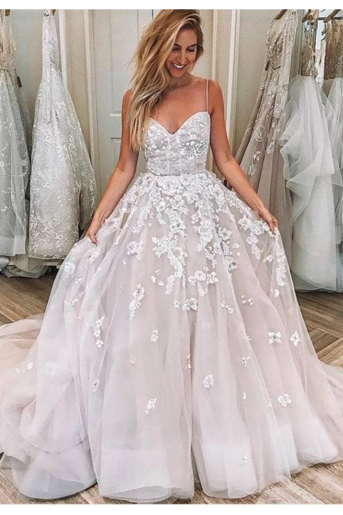 Ball Gown Lace Long Prom Dresses Formal Evening Dresses 601361
