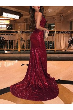 Sexy Mermaid Sequins Long Prom Dresses Formal Evening Dresses 601368