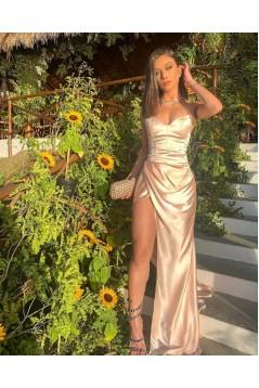 Sheath High Slit Long Prom Dress Formal Evening Dresses 601386