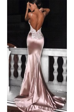 Sexy Mermaid V-Neck Lace Long Prom Dress Formal Evening Dresses 601391