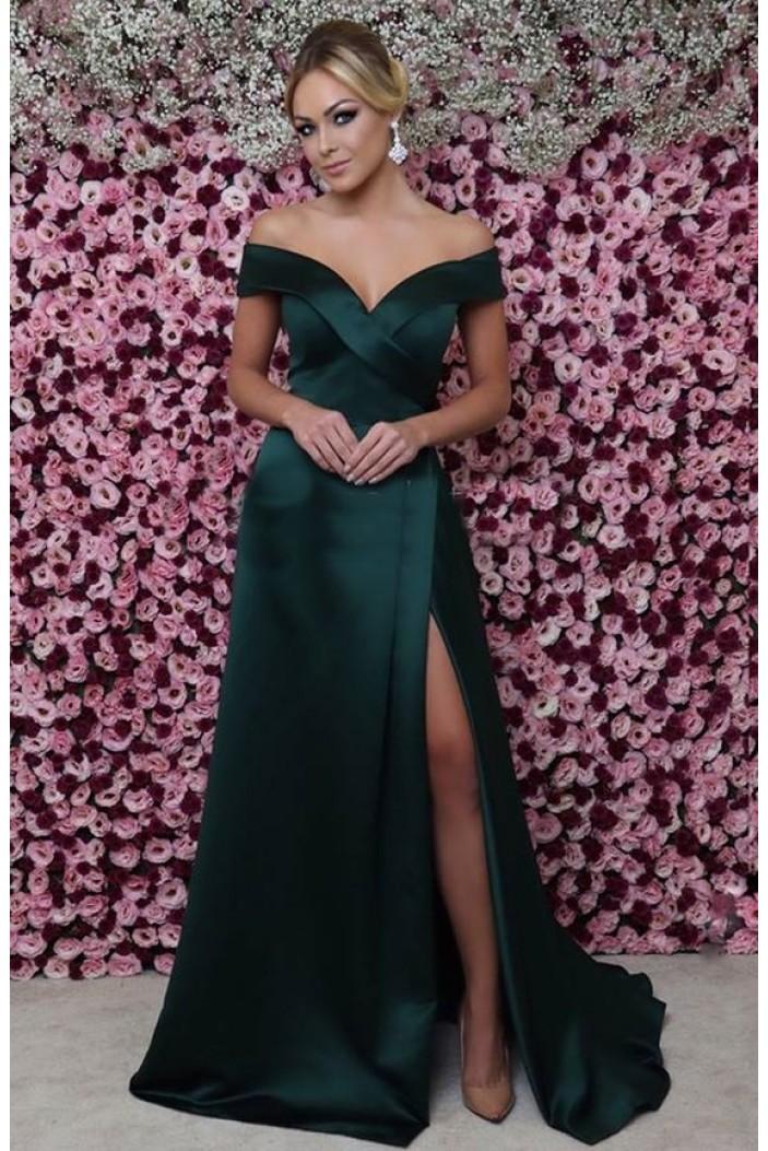A-Line Off-the-Shoulder Long Prom Dress Formal Evening Dresses 601420