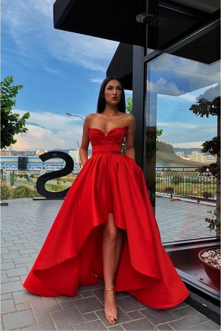 High Low Sweetheart Prom Dress Formal Evening Dresses 601422