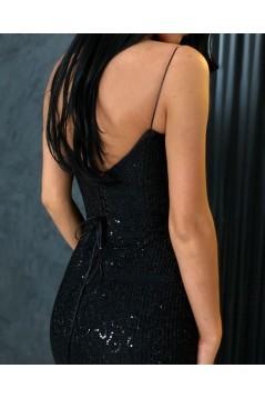 Mermaid Spaghetti Straps Sparkling Long Prom Dress Formal Evening Dresses 601429