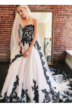 A-Line Sweetheart Lace Long Prom Dress Formal Evening Dresses 601435