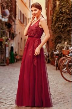 A-Line Lace V-Neck Long Prom Dress Formal Evening Dresses 601451