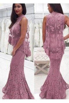 Mermaid Lace Long Prom Dress Formal Evening Dresses 601468