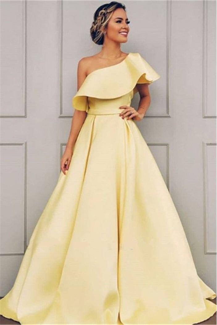 A-Line Off-the-Shoulder Long Prom Dress Formal Evening Dresses 601472
