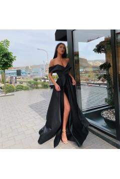 A-Line Off-the-Shoulder Long Prom Dress Formal Evening Dresses 601485
