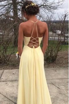 A-Line V-Neck Long Prom Dress Formal Evening Dresses 601489