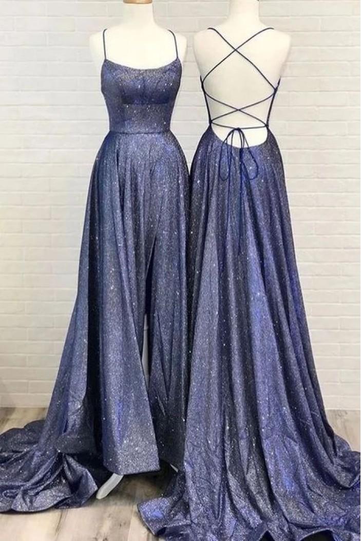 A-Line Sparkling Long Prom Dress Formal Evening Dresses 601493