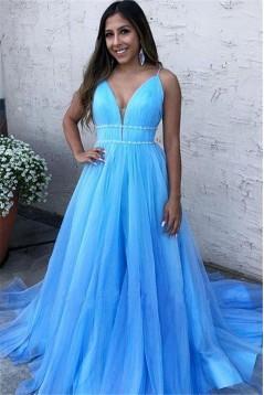 Elegant A-Line Long Prom Dress Formal Evening Dresses 601503