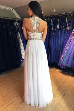 A-Line Chiffon Long Prom Dress Formal Evening Dresses 601506