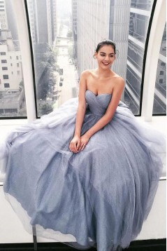 A-Line Sweetheart Long Prom Dress Formal Evening Dresses 601508