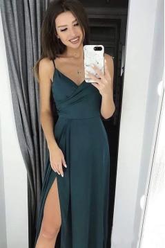 Sheath V-Neck Long Prom Dress Formal Evening Dresses 601509