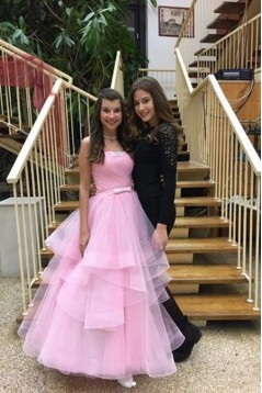 Long Pink Ball Gown Prom Dress Formal Evening Dresses 601519
