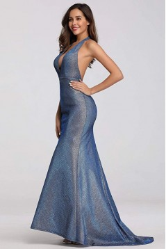 Mermaid V-Neck Long Prom Dress Formal Evening Dresses 601521