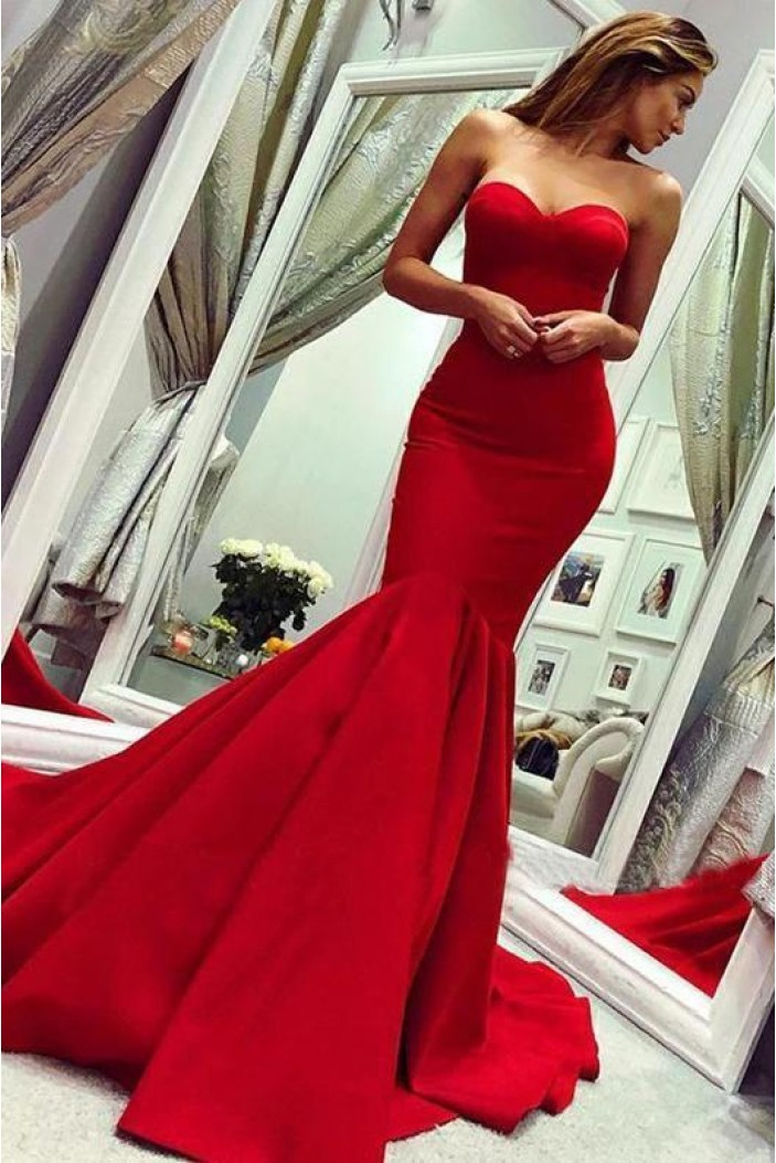 Mermaid Sweetheart Long Prom Dress Formal Evening Dresses 601524