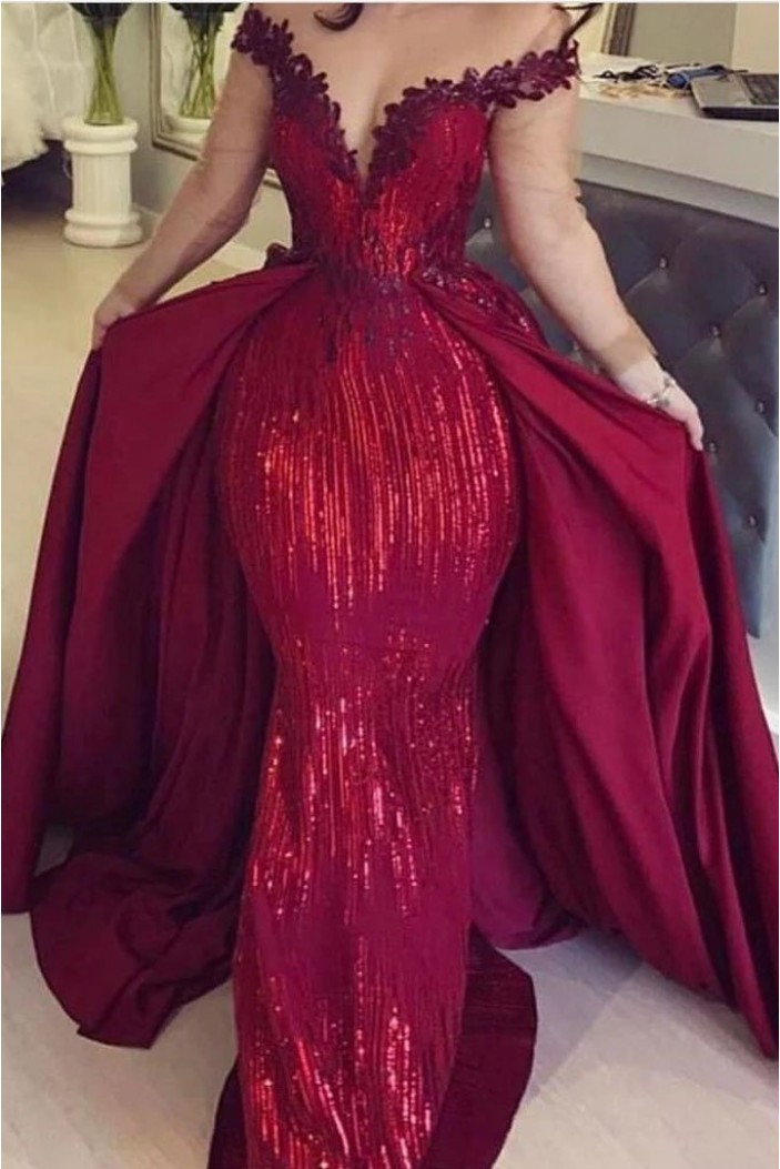 Mermaid Sparkling Long Prom Dress Formal Evening Dresses 601531