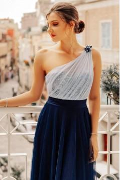 Sheath/Column One-Shoulder Long Prom Dress Formal Evening Dresses 601535