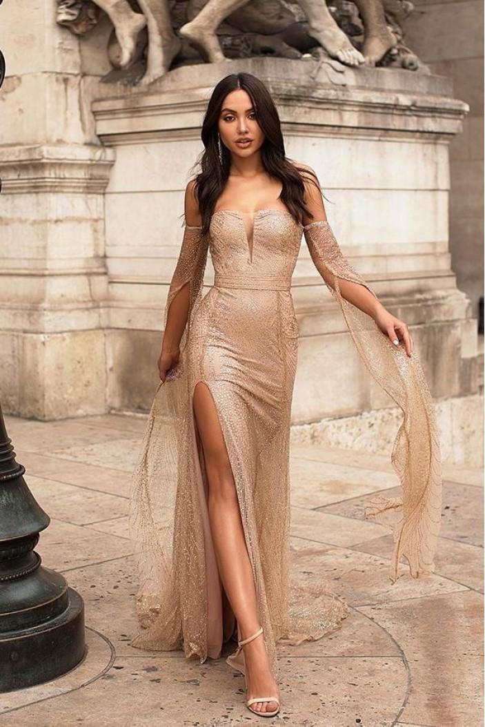 Sexy Sheath Long Prom Dress Formal Evening Dresses 601547
