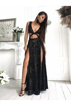 Sexy Sparkle Long Prom Dress Formal Evening Dresses 601551