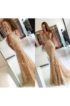 Mermaid Lace Long Prom Dress Formal Evening Dresses 601564