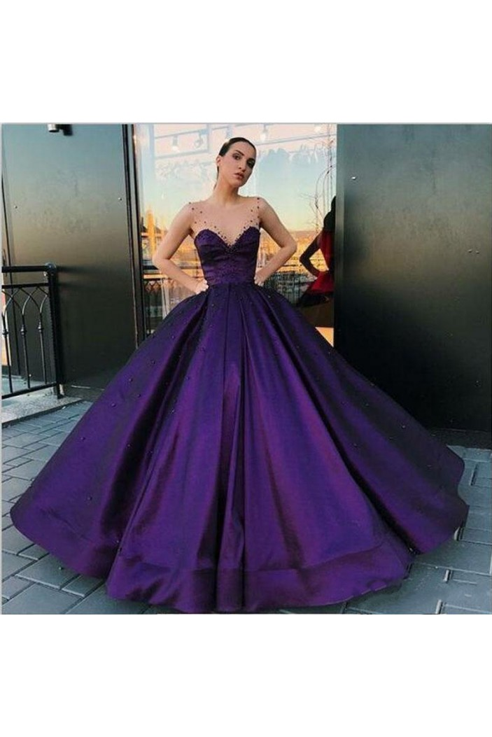 Ball Gown Beaded Long Prom Dress Formal Evening Dresses 601578