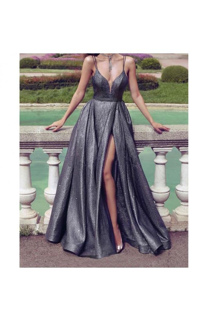 A-Line Sparkle Long Prom Dress Formal Evening Dresses 601581