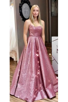 A-Line Sparkle Long Prom Dress Formal Evening Dresses 601585