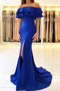 Mermaid Off-the-Shoulder Long Prom Dress Formal Evening Dresses 601592