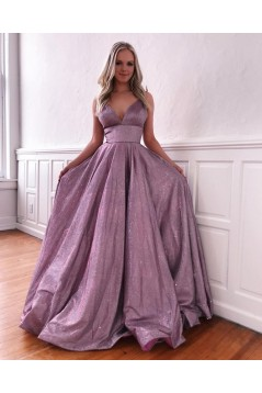 A-Line V-Neck Long Prom Dress Formal Evening Dresses 601601