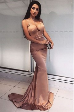 Mermaid V-Neck Long Prom Dress Formal Evening Dresses 601609
