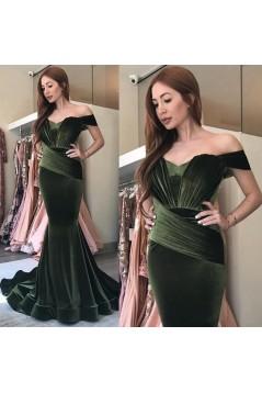 Mermaid Off-the-Shoulder Long Prom Dress Formal Evening Dresses 601625