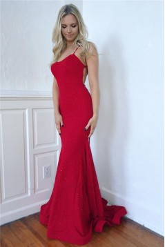 Elegant Mermaid Long Prom Dress Formal Evening Dresses 601626