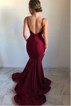 Mermaid V-Neck Long Prom Dress Formal Evening Dresses 601631