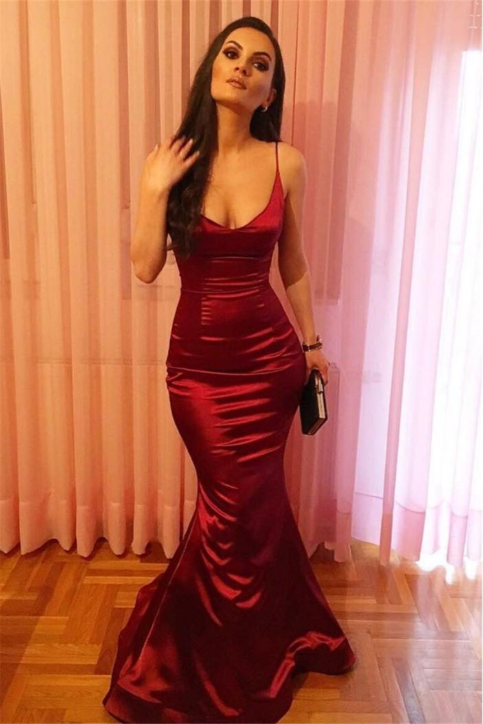 Sexy Mermaid Long Prom Dress Formal Evening Dresses 601634