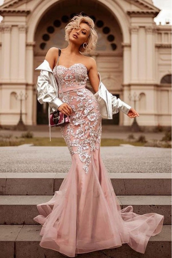 Mermaid Sweetheart Lace Prom Dress Formal Evening Dresses 601642