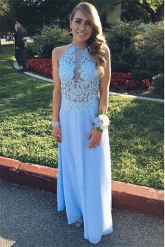 A-Line Lace Long Prom Dress Formal Evening Dresses 601649