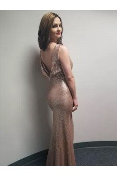 Mermaid Sequins Long Prom Dress Formal Evening Dresses 601651