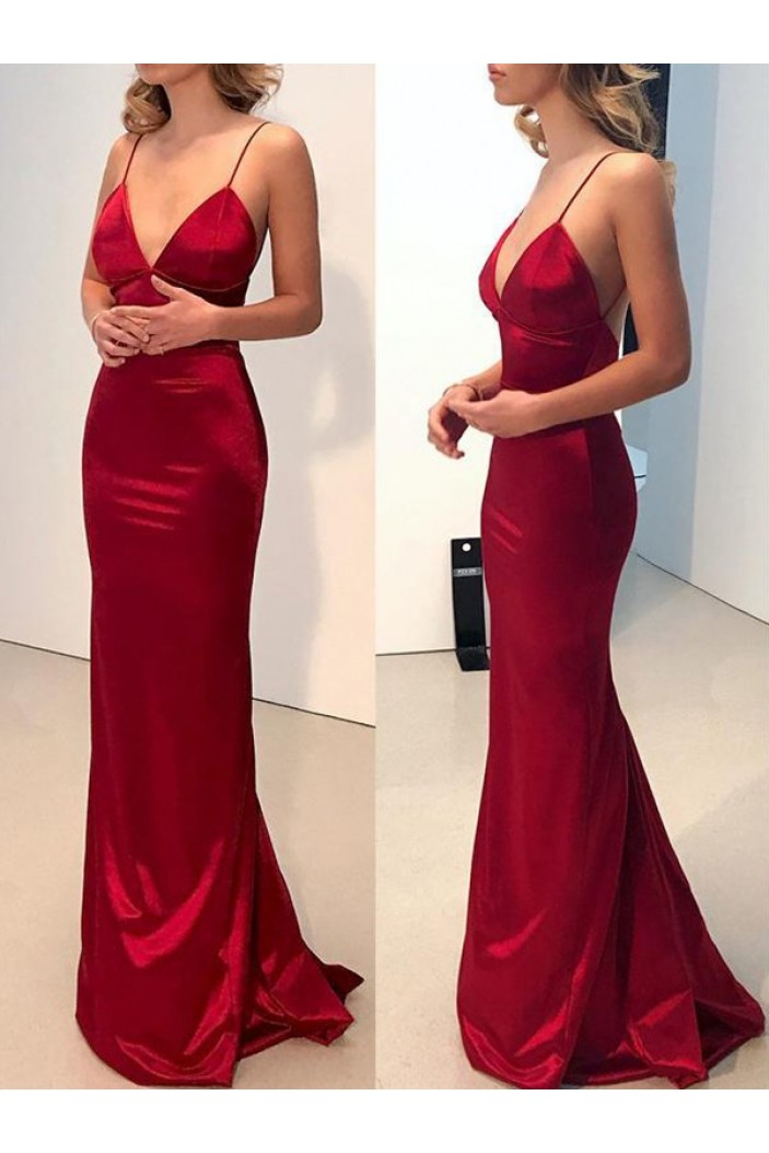 Mermaid V-Neck Long Prom Dress Formal Evening Dresses 601652