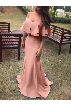 Mermaid Off-the-Shoulder Long Prom Dress Formal Evening Dresses 601670