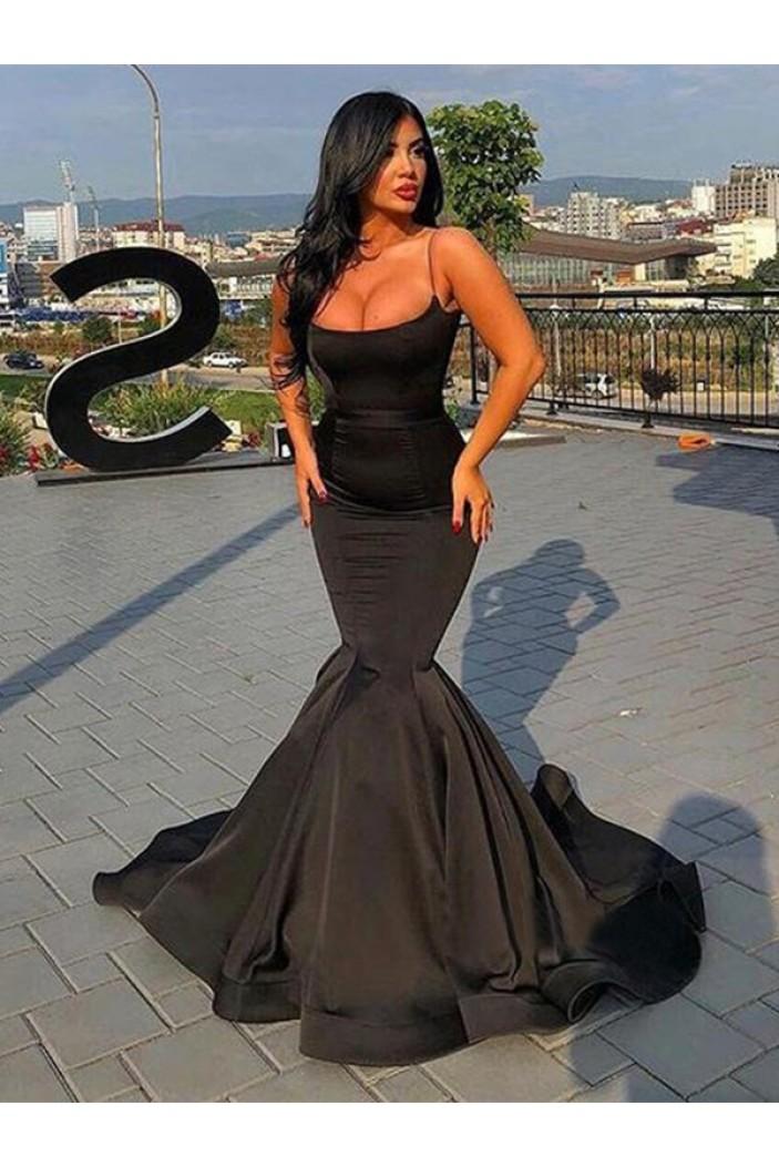 Mermaid Long Black Long Prom Dress Formal Evening Dresses 601696
