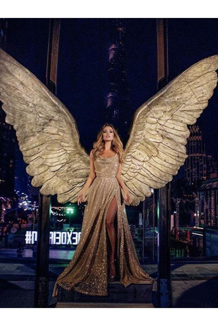 Mermaid Sequins Long Prom Dress Formal Evening Dresses 601701