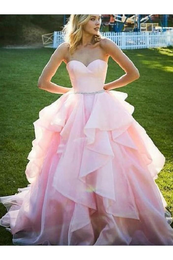 Ball Gown Sweetheart Long Pink Prom Dress Formal Evening Dresses 601702