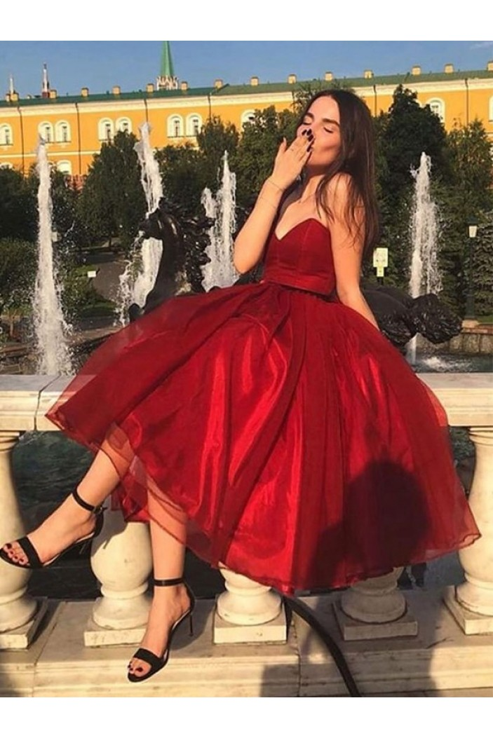 A-Line Sweetheart Red Prom Dress Formal Evening Dresses 601705