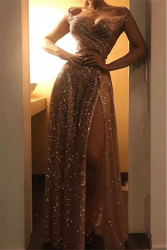 Sexy Sequins Long Prom Dress Formal Evening Dresses 601708