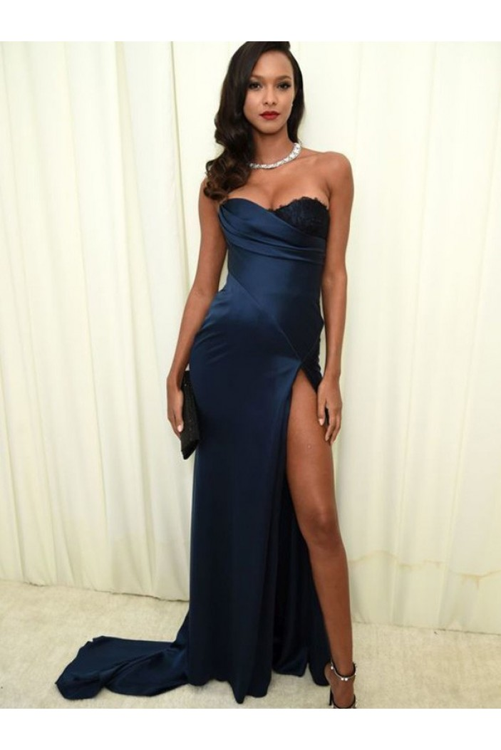 Sheath Strapless Long Prom Dress Formal Evening Dresses 601724